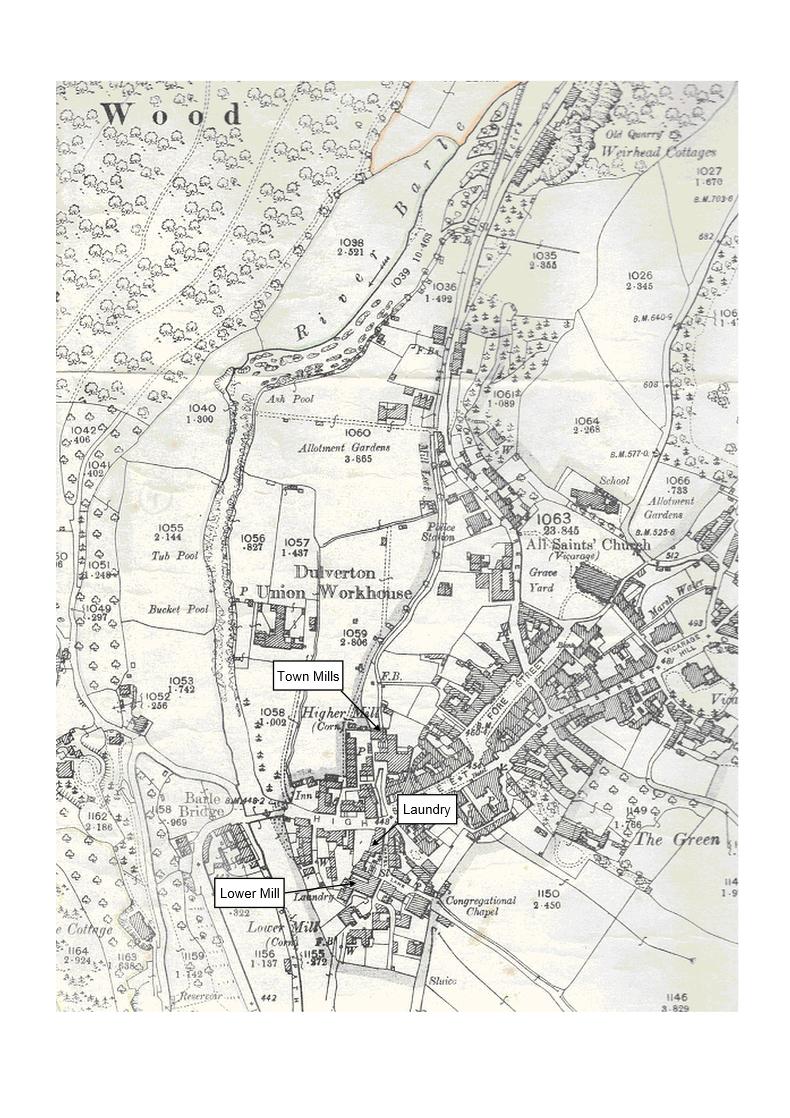 OS map of Dulverton 1904