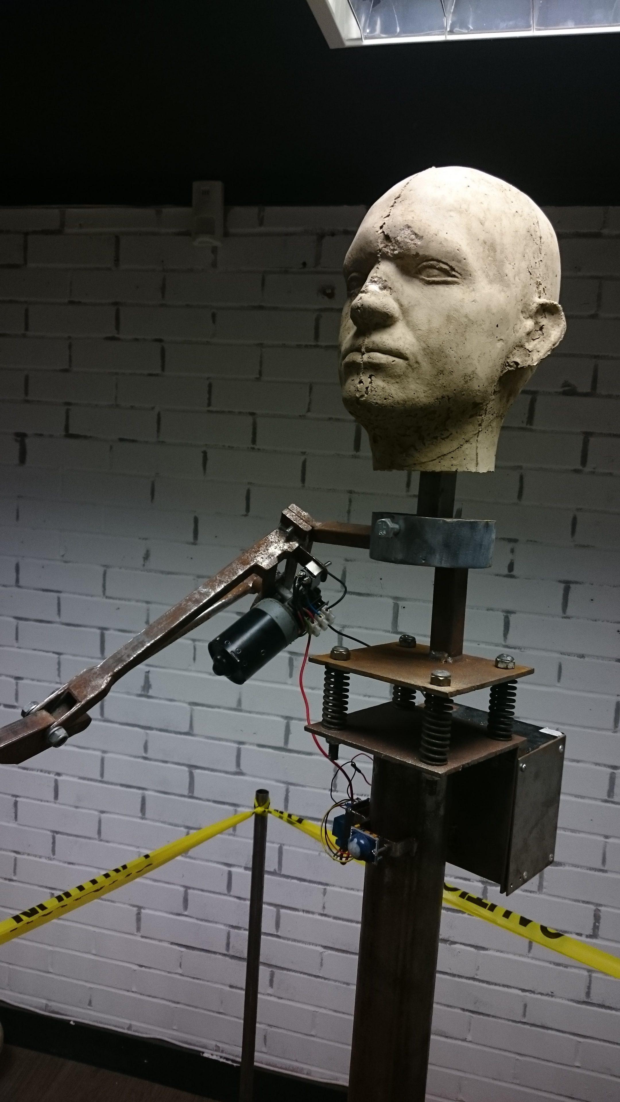 Kinetic sculpture 'Prothesis' by Luke Tupper