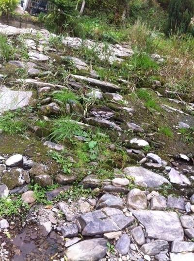 Original weir stones still in place