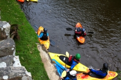 Canoeists at Weirhead
