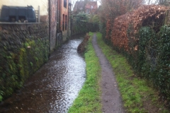 View of leat behind Congregational Chapel