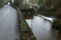 View of leat adjacent to the sluice gate in Northmoor Road