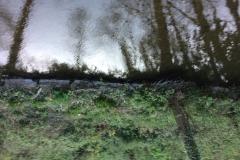 Original weir facing stones still in position at Weirhead 1
