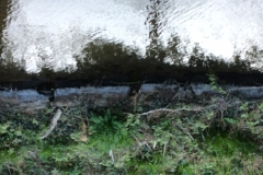 Original weir facing stones still in position at Weirhead 2