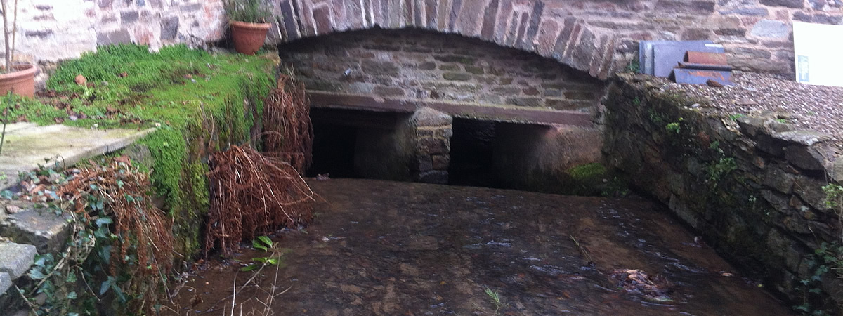 The Leat running under town mills